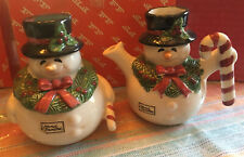 Fitz & Floyd Frosty Snowman Sugar Creamer Set 4.5� tall