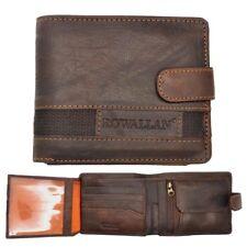 Mens High Quality Rustic Leather Tri-fold Wallet by Rowallan of Scotland