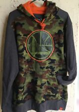 Fanatics~Golden State Warriors  Sweatshirt Hoodie~Men's XL~Olive Green Camo