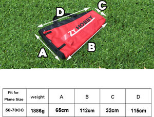 Waterproof Protection Carry Wing Bag For 50-70CC RC Airplane ZYHOBBY Logo Red