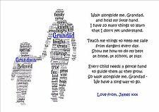Walk Alongside Me Grandad Pops Grandpa Fathers Day Poem Personalised Gifts Day