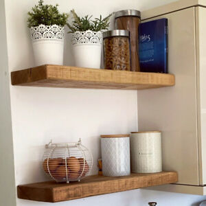 Rustic Wooden Floating Shelf, Chunky Shelving, Floating Shelves, Rustic Shelves