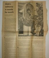 Vintage 1969 Rolling Stones Newspaper Article Daily News Altamont Mick Jagger