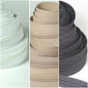 No5 upholstery 1,5,10 &25 Continuous zip cushion zipping three different colours