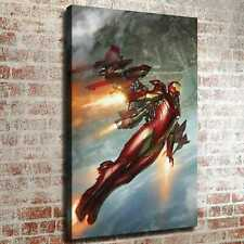 "12""x18""Iron Man is flying backwards HD Canvas prints Painting Home decor art"