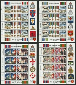 ISLE OF MAN 1995 50th ANNIVERSARY VE DAY ALL 4 IN SHEETS OF 8 MNH