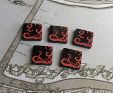 Arkham Horror LCG compatible, double sided acrylic Doom tokens x 5