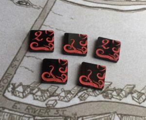 Arkham Horror LCG compatible, double sided acrylic Doom tokens x 5