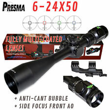 PRESMA 6-24X50 Rifle Scope,Side Focus,Bubble,Fully Multi-Coated, Ill RGB Reticle