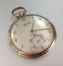 Gruen Veri-Thin 10k Gold Filled Antique Mechanical Pocket Watch