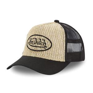 Cap Cape Hat Von Dutch / Adult One Size Adjustable Black Straw