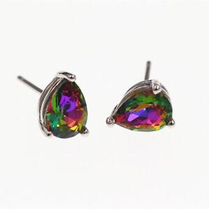 Fashion Jewelry Rose Gold/Sterling Silver Women's Zircon Crown Stud Earring GF02