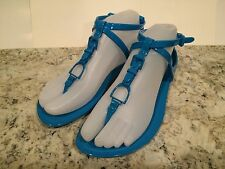 Ralph Lauren Collection Karly Sandals Flat Jelly Beach Ocean Blue 5 Italy