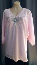 Polyester V-Neckline Batwing, Dolman Sleeve Tops for Women