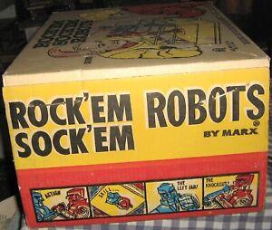 Vintage 1966 MARX Rock'em Sock'em Robots,Complete With Original Box,Tested,Works