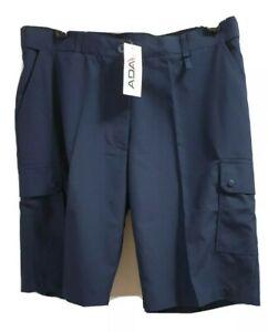 ADA navy Medical Healthcare Nursing Professional Work Cargo Shorts Sz 16 430