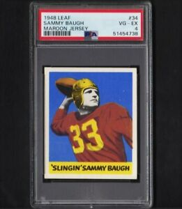 1948 Leaf #34 Sammy Baugh Redskins Rookie Vg-Ex PSA 4