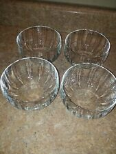 """Set of 4 Glass Cereal Bowls Made in Czech 5"""" X 3"""""""