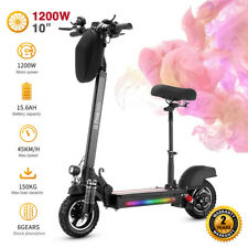 Patinete Eléctrico para Adultos Scooter eléctrico Plegable 10 1200W 13Ah de Dos