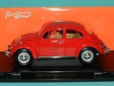 Road Signature 1/18 1967 Volkswagen Beetle Red MiB