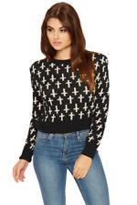 Langarm Damen-Pullover & -Strickware aus Mischgewebe Größe 42