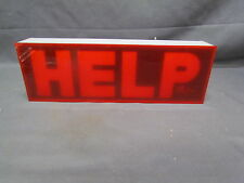 "VINTAGE 12V EMERGENCY ""HELP"" FLASHING SIGNAL LIGHT AUTO TRUCK ACCESSORY RAT ROD"