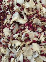 Natural Dried Petal Biodegradable Wedding Confetti 1L Burgundy Pink Red Rose