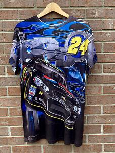 Chase Authentics Jeff Gordon Pepsi Max All Over Print Shirt Blue Medium Retro