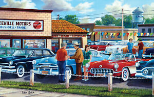 DAD'S PICK by KEN ZYLLA - SunsOut 550 piece puzzle CAR LOT - NEW