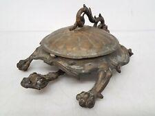 Antique Iron Bradley Hubbard Usa 3612 Turtle Spittoon