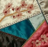 Victorian CRazy Quilt Embroidered Quilt Blocks  20 -8 Inch Blocks