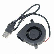 2pcs 50mm 50x15mm USB Blower Fan Mini Brushless Computer Cooler Cooling 5015S