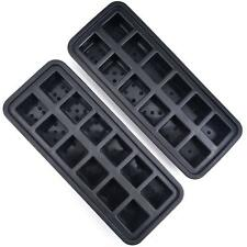 24 Cube Silicone Ice Cube Trays (2 Pack of 12 Ice Cubes Trays)