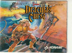 Castlevania Dracula's Curse III 1990 Nintendo NES Instruction Manual JA21