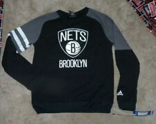 NEW NBA ADIDAS Brooklyn Nets Crew Sweatshirt Youth Boys S Small 8 NEW NWT