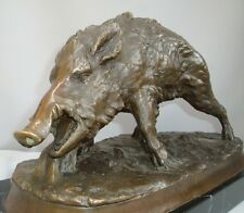 Statue Sculpture Boar Wildlife Art Deco Style Art Nouveau Style Solid bronze Sig