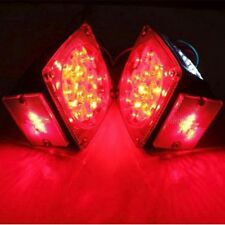 LED Submersible 2*Square Tail Lights Kit Trailer Over Tail Stop Brake F Car Boat