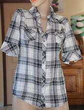 GUESS - Très jolie chemise à carreaux noir et blanc - Taille S - EXCELLENT ÉTAT