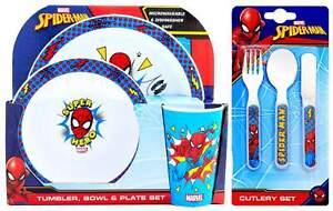 Marvel Spider-Man 6-Piece Dinner and Cutlery Set | Tableware | Dinnerware