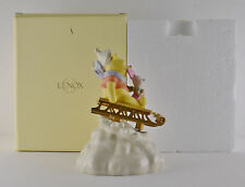 Lenox Disney - Poohs Winter Dash Mib Musical Figurine (Working Condition)