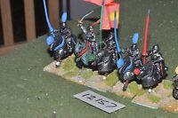 25mm renaissance / generic - plastic horses 6 cavalry - cav (12157)