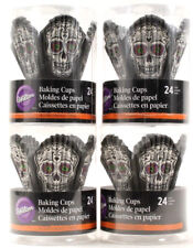 Wilton Cupcake Calavera Sugar Skull Halloween Decoration Party Accessories 96 ct