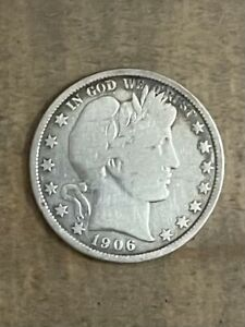 1906 Barber Half Dollar - Fine Condition