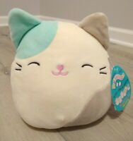 "New Squishmallow Blair Teal & Gray Cat Kitty  RARE 7"" Soft Plush Stuffed Animal"