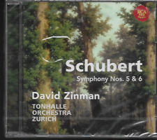 FRANZ SCHUBERT SYMPHONY NOS. 5 & 6 CD DAVID ZINMAN TONHALLE ORCHESTRA NEW/SEALED