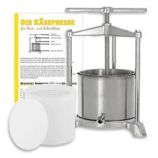 Käsepresse (Edelstahl/Alu) + 1200 g Käseform inkl. Pressdeckel