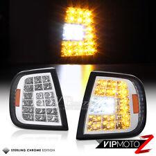 1997-2003 Ford F150 PickUp Chrome LED Signal Parking Corner Bumper Lights Lamps