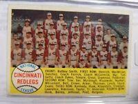 1958 Topps Cincinnati Redlegs Checklist #428