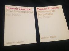 Francis Poulenc, Five Impromptus & Mouvements Perpetuels for Piano. Sheet Music