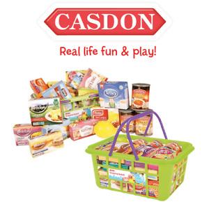 Casdon 628 Shopping Basket Kids Role Play Pretend Toy Supermarket Basket + Food